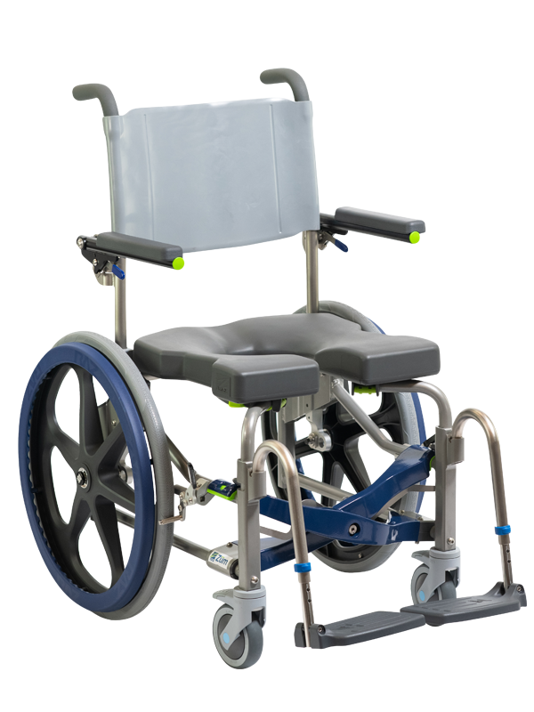 Züm-AP and Züm-SP Foldable Mobile Shower Commode Chair